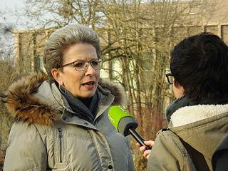 Barbara Bosch nach dem Spatenstich für den Neubau des Theater Reutlingen Die Tonne am 1. März 2016